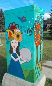 Flint Park's new utility box art