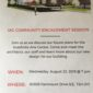 Indefinite Arts Centre Community Engagement Session – Wednesday, August 22nd, 7pm